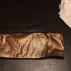 0687f7ab855651 Women s Gold Sequin Crop Top on Poshmark
